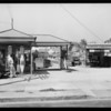 Gas station and factory interior, Southern California, 1932