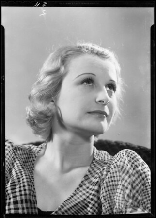 Portrait of Miss Helen Simmons, Southern California, 1933