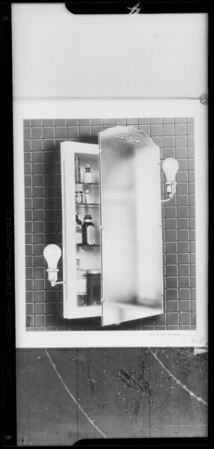 Drawings of mirrors, Southern California, 1931