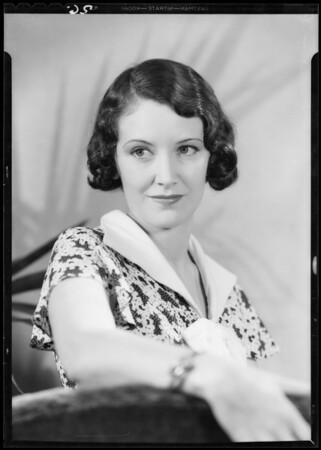 Portrait of Cecil Cameron, Southern California, 1933