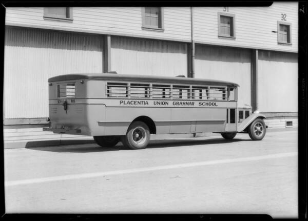 Placentia Union bus, Southern California, 1931