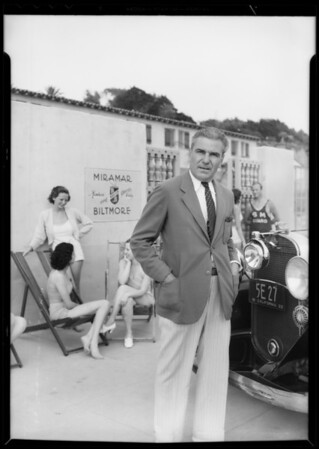Mr. Stormer, Miramar Biltmore Beach Club, Santa Monica, CA, 1933