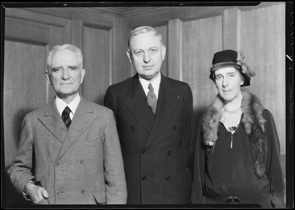 Mayor Porter with Mr. and Mrs. Jack, Southern California, 1932