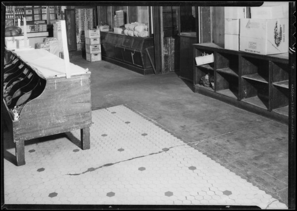Floor condition, Ralph's Grocery, 635 South Spring Street, Los Angeles, CA, 1933
