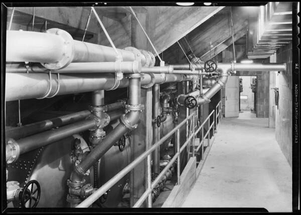 Filter room, Olympic pool, Los Angeles, CA, 1932