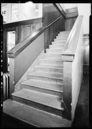 Staircase at Kress store, Southern California, 1931