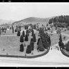Panorama of cemetery, Rosehill Memorial Park, 3888 Workman Mill Road, Whittier, CA,  1933