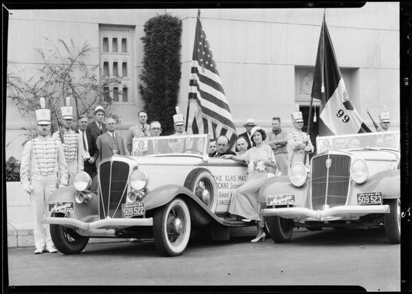 Elks caravan, Majestic radio equipped, Southern California, 1933