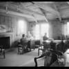 Interior and exterior of Robert C. Mason office, 3213 Geneva Street, Los Angeles, CA, 1933
