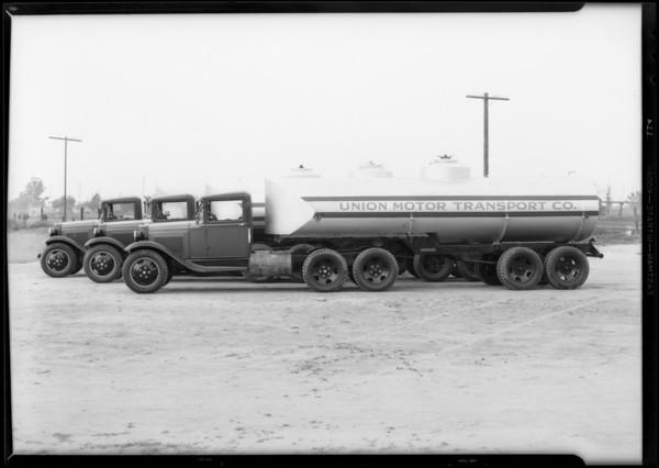 Union Motor Transport Company trucks, Southern California, 1931