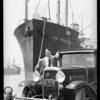 Mr. Young at Los Angeles Harbor, Southern California, 1933