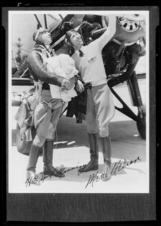 Photograph of air race pilots, Southern California, 1933