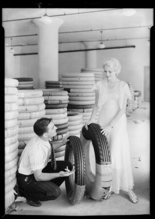Publicity shots for Warehouse Tire Co., Southern California, 1931