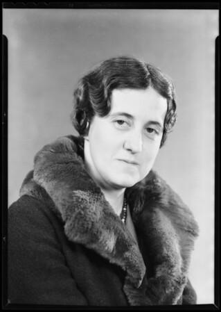 Miss Freeman, Southern California, 1932