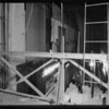 Stage at Alhambra High School, case of Amesbury, Alhambra, CA, 1932