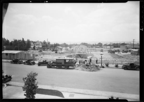 Construction of new city hall, Van Nuys, Los Angeles, CA, 1932