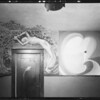 Paintings on wall, Southern California, 1932