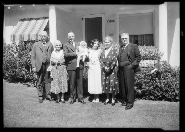 Group etc. at Pasadena, CA, 1932