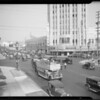 Wilshire Boulevard traffic, Los Angeles, CA, 1934