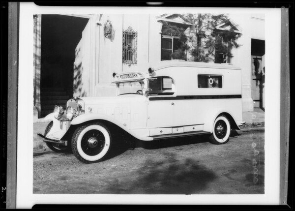 Police ambulance from Beverly Hills, CA, 1932