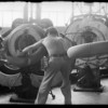 Publicity photos in factory, Southern California, 1932