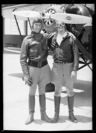 """Captain Nelson & """"Spud"""" Manning, Southern California, 1933"""