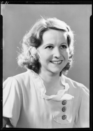 Portrait of Frances Hopkins, Southern California, 1933