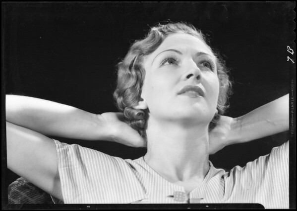 Portrait of Evelyn Mackert, Southern California, 1933