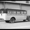 School buses, Southern California, 1931