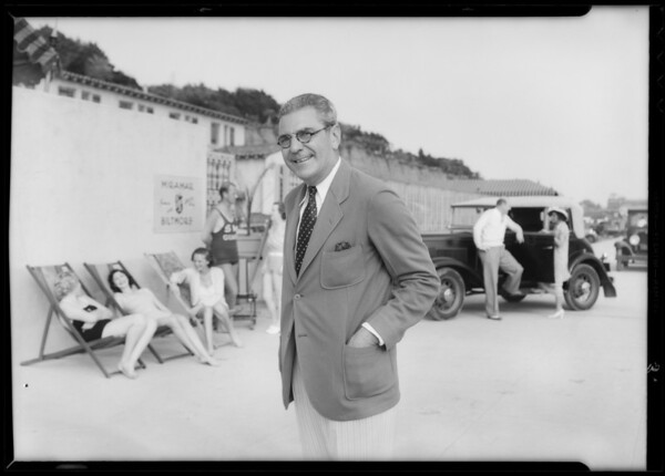Mr. Stormer, Miramar Biltmore Beach Club, Santa Monica, CA, 1933