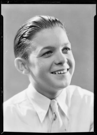 Boy's heads for ad layout, Edgar Sharpe, Southern California, 1931