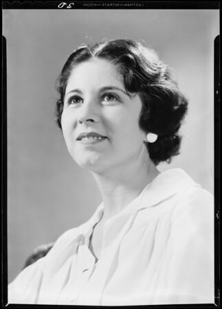 Portrait of Miss Shara O'Farrel, Southern California, 1933