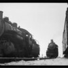 Freight engines and trains, Southern California, 1933