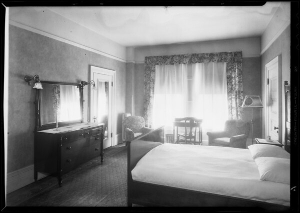 Bedroom only, Barclay Hotel, 103 West 4th Street, Los Angeles, CA, 1932