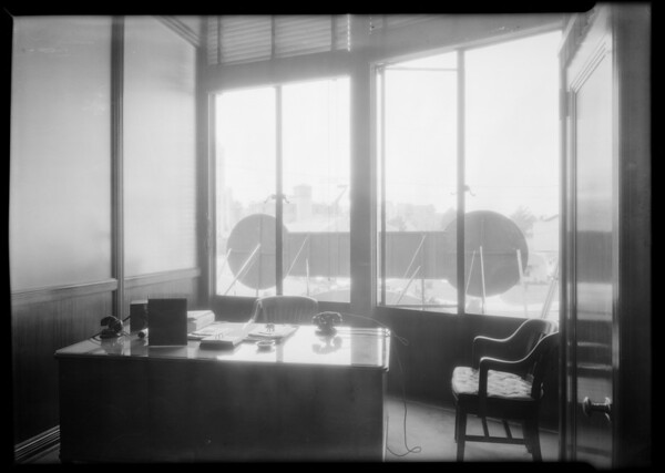 View of street from Mr. Tyner's office, Southern California, 1932
