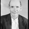 Harry Wheatley, claim 45789 S. C., to show disfigured face, Southern California, 1931