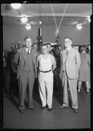 Birthday at KFI, Southern California, 1932