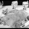 Leg of lamb, Southern California, 1931