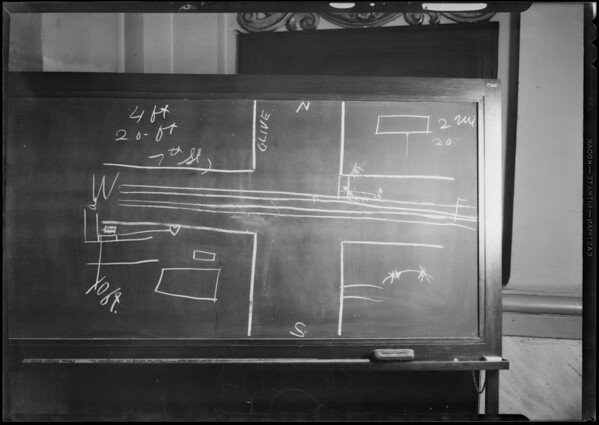 Blackboard, Superior Court #11, Nelson vs. Jones, Southern California, 1931