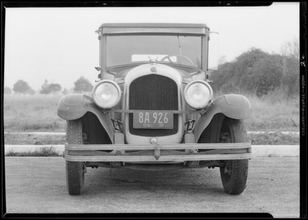 Chrysler sedan, Chadwick - owner, Policy #505144, Southern California, 1931