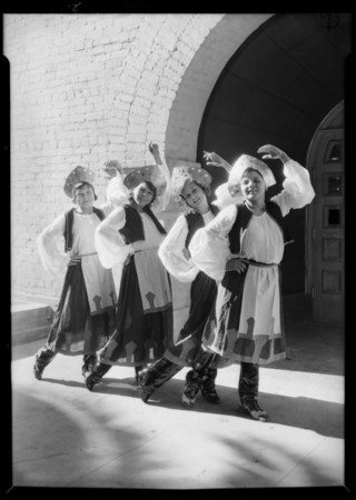Russian dancers for Christmas pageant, Southern California, 1931