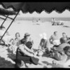 Scenes on the beach, Pacific Palisades, Los Angeles, CA, 1932