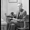 Dr. Dunshee, Health Dept., Pasadena, Southern California, 1931