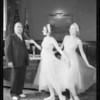 Mayor Shaw receiving box tickets, California Festival Association, Southern California, 1934