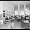 Studio room, Hollywood school, script club, Woodbury College, 727 South Figueroa Street, Los Angeles, CA, 1933