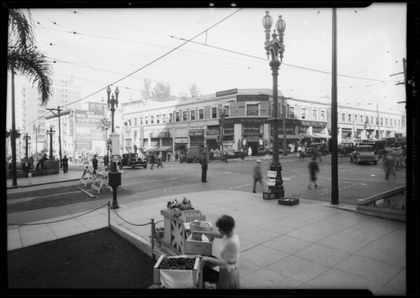 Intersection, West Temple Street and North Broadway, Los Angeles, CA, 1932