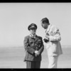 Nolet and his ship, Southern California, 1933