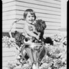 Baby, dahlia show pubilcity, Southern California, 1933