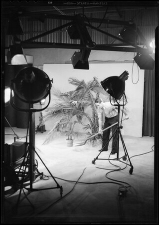 Hawaiian scene in studio, Southern California, 1932