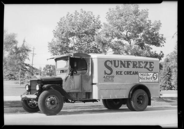 Sunfreze Ice Cream truck, Southern California, 1932
